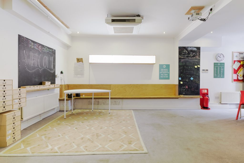 Workshop space at ministry of stories