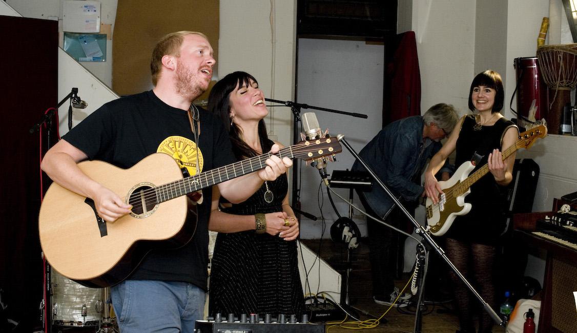 Share More Air band performing (photo: Miriam Douglas)