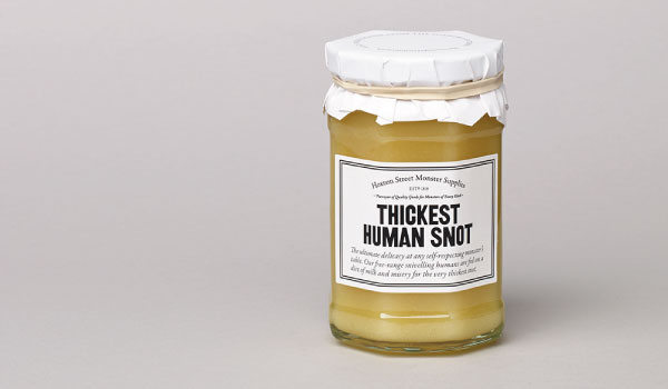 A jar of Thickets Human Snot