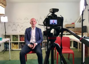 Author Piers Torday is interviewed at the Ministry of Stories